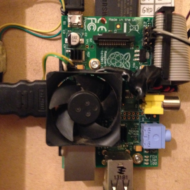 Raspberry-Pi, Installation du ventilateur CPU
